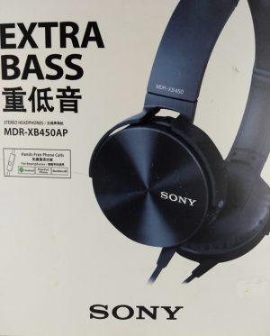 Fone de Ouvido com Microfone Bass MDR-XB450AP Preto Sony